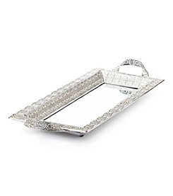 CASA by Victor Alfaro Wanderlust Collection Silvertone Rectangular Metal Tray