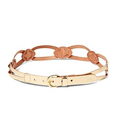 Lauren Ralph Lauren® Skinny Braided Leather Belt With C-Buckle