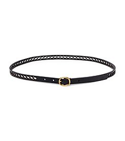Lauren Ralph Lauren® Perforated Leather Skinny Belt