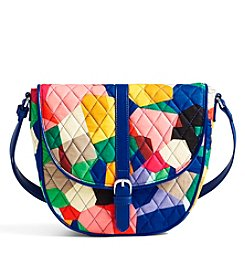 Vera Bradley® Slim Saddle Bag
