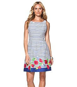 Chaps® Striped Sateen Dress