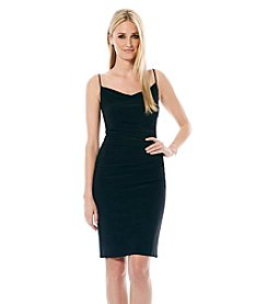 Laundry by Shelli Segal Skinny Strap Side Shirred Tank Dress