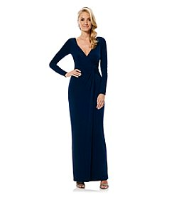Laundry by Shelli Segal® Twist Front Matte Jersey Gown