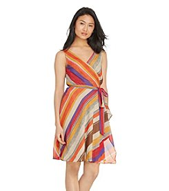 Lauren Ralph Lauren® Petites' Striped Wrap Dress