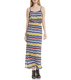 Vince Camuto® Elastic Waist Jagged Maxi Dress
