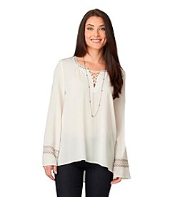 Democracy Lace Up Bell Top