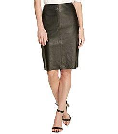 Lauren Jeans Co.® Leather Pencil Skirt