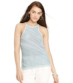 Lauren Jeans Co.® Pointelle-Knit Cotton Tank