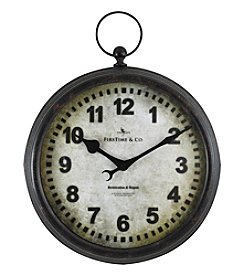 FirsTime Metal Pocket Watch Wall Clock