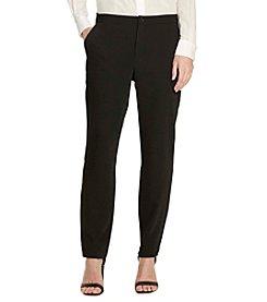 Lauren Ralph Lauren® Sueded Crepe Tuxedo Pants