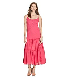 Lauren Ralph Lauren® Embroidered Cotton Maxi Dress