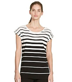 Lauren Active® Striped Stretch Cotton Tee
