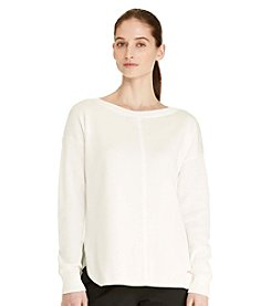Lauren Active® Cotton Bateau-Neck Top