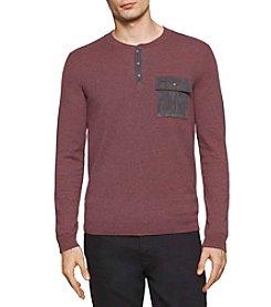 Calvin Klein Men's Long Sleeve Single Pocket Henley