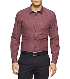 Calvin Klein Men's Long Sleeve Mini Check Button Down Shirt