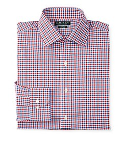 Lauren Ralph Lauren Men's Long Sleeve Gingham Spread Collar Dress Shirt