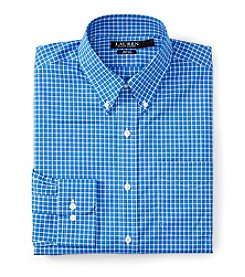 Lauren Ralph Lauren Men's Slim Fit Long Sleeve Checked Button Down Collar Dress Shirt