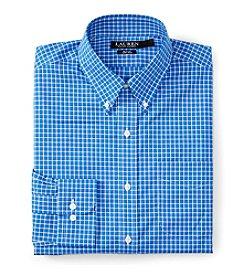Lauren Ralph Lauren Men's Slim Fit Long Sleeve Checked Button Down Collar Dress Shirt