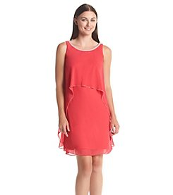 S.L. Fashions Beaded Neck Shutter Dress