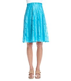 Notations® Petites' Lace Overlay Skirt