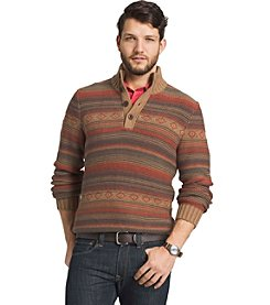 G.H. Bass & Co. Men's Button Mock Sweater
