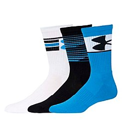 Under Armour® Men's 3-Pack Phenom Crew Socks