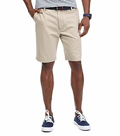 Nautica® Men's Big & Tall Anchor Twill Flat Front Shorts