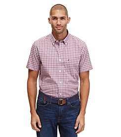 Nautica® Men's Big & Tall Short Sleeve Gingham Button Down Shirt