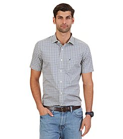 Nautica® Men's Big & Tall Short Sleeve Plaid Button Down Shirt
