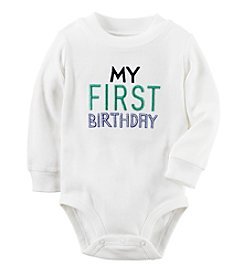 Carter's® Baby Boys' My First Birthday Bodysuit