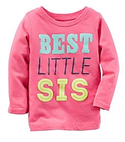 Carter's® Baby Girls' Long Sleeve Best Little Sis Tee