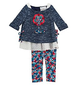 Rare Editions® Baby Girls' 2-Piece Floral Top And Leggings Set
