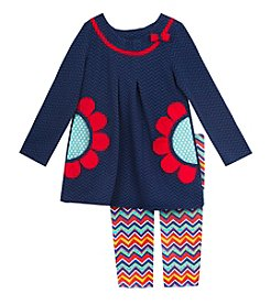 Rare Editions® Baby Girls' 2-Piece Daisy Tunic And Leggings Set