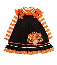 Rare Editions® Baby Girls' 2-Piece Thanksgiving Dress Set