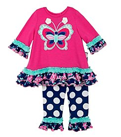 Rare Editions® Baby Girls' 2-Piece Butterfly Tunic And Leggings Set