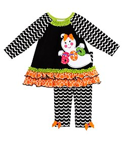 Rare Editions® Baby Girls' 2-Piece Boo Tunic And Leggings Set