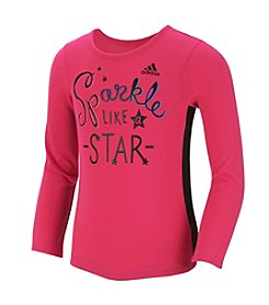 adidas® Girls' 2T-6X Long Sleeve Sparkle Like A Star Tee