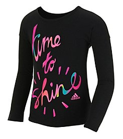 adidas® Girls' 2T-6X Long Sleeve Time To Shine Tee
