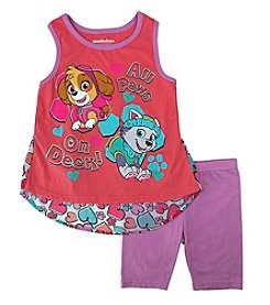Nickelodeon® Girls' 2T-4T All Paws On Deck! Tank And Shorts Set