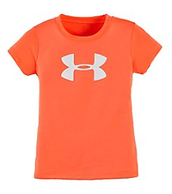 Under Armour® Girls' 2T-6X Short Sleeve Glitter Logo Tee