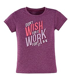 Under Armour® Girls' 2T-6X Short Sleeve Work For It Tee
