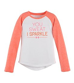 Under Armour® Girls' 2T-6X Long Sleeve You Sweat I Sparkle Tee