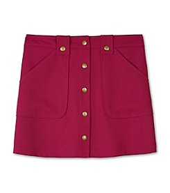 Amy Byer Girls' 7-16 Crepe Buttonfront Skirt