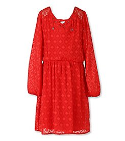 Speechless® Girls' 7-16 Textured Tie Front Dress