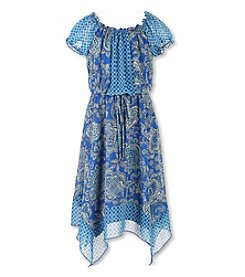 Speechless Girls' 7-16 Peasant Sharkbite Dress