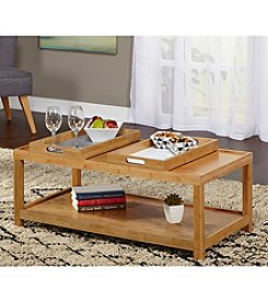 Target Marketing Systems Parker Coffee Table with Trays