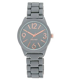 Nine West® Grey Rubberized Bracelet Watch