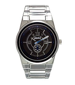 Unlisted by Kenneth Cole® Men's Silvertone Watch