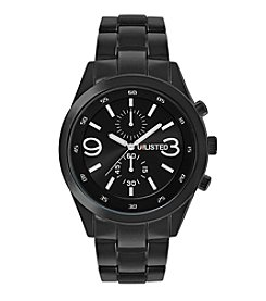 Unlisted by Kenneth Cole® Men's Blacktone Watch