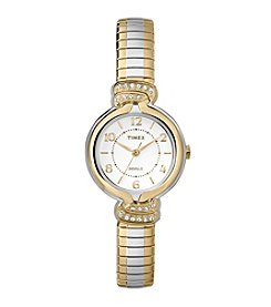 Timex® Women's Anna Avenue Two-Tone Stainless Steel Expansion Band Watch